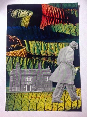 "Karen Raingold, ""3 minute collage"", October 2015 Collage on paper"
